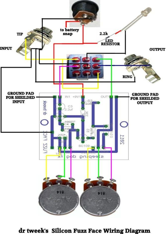 zb3136 fuzz face wiring diagram schematic wiring