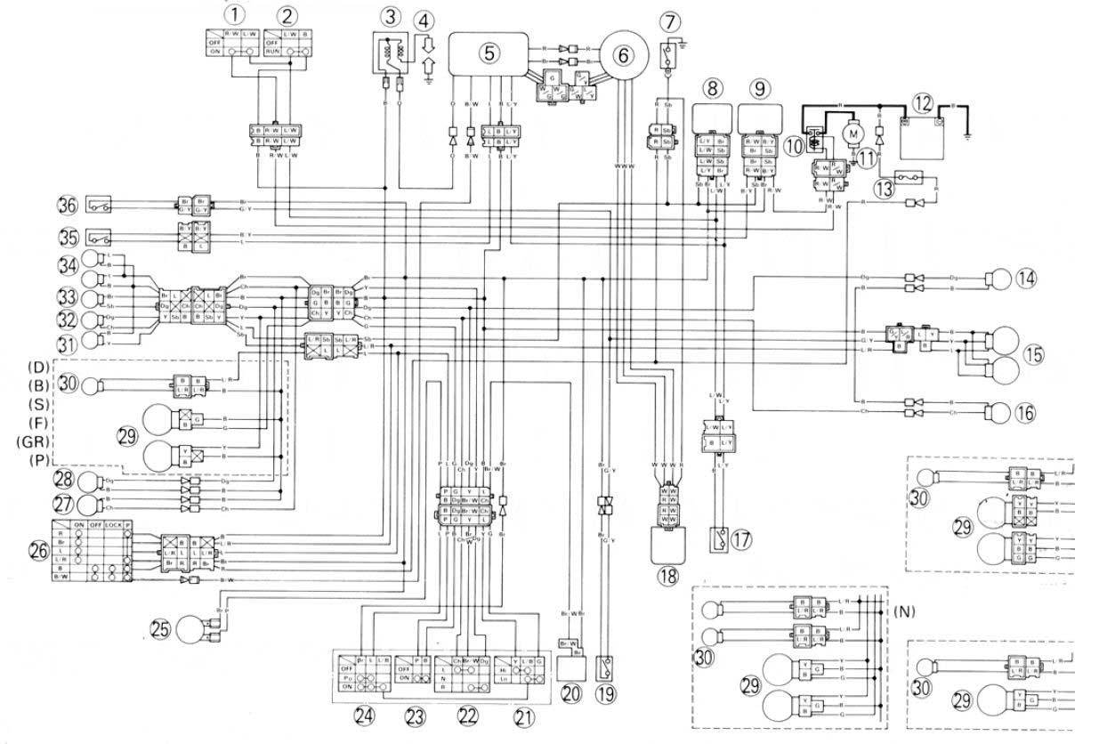 Db Moreover Yamaha Big Bear 350 Wiring Diagram On