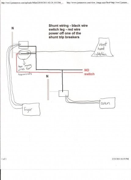 ge shunt trip wire diagram  1973 chevelle wiring schematic