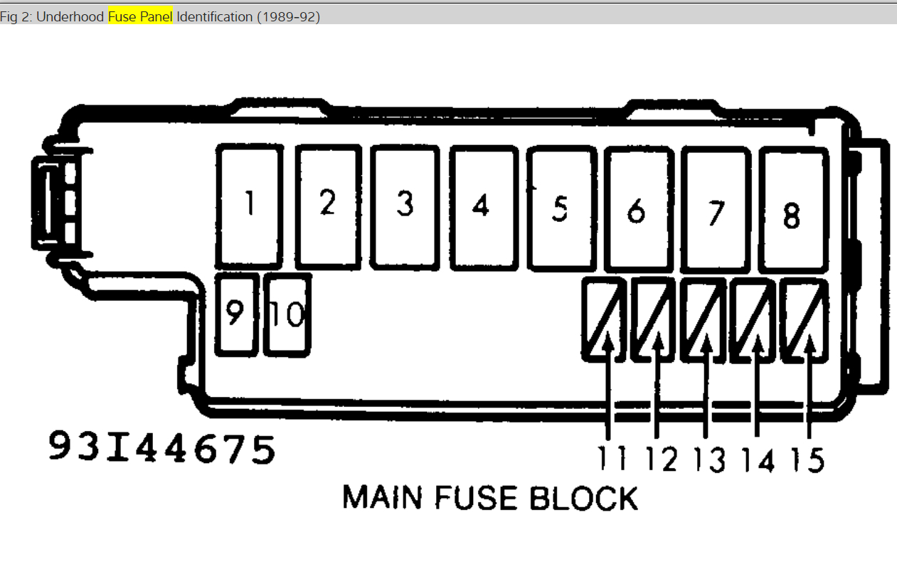 89 Ford Probe Wiring Diagram