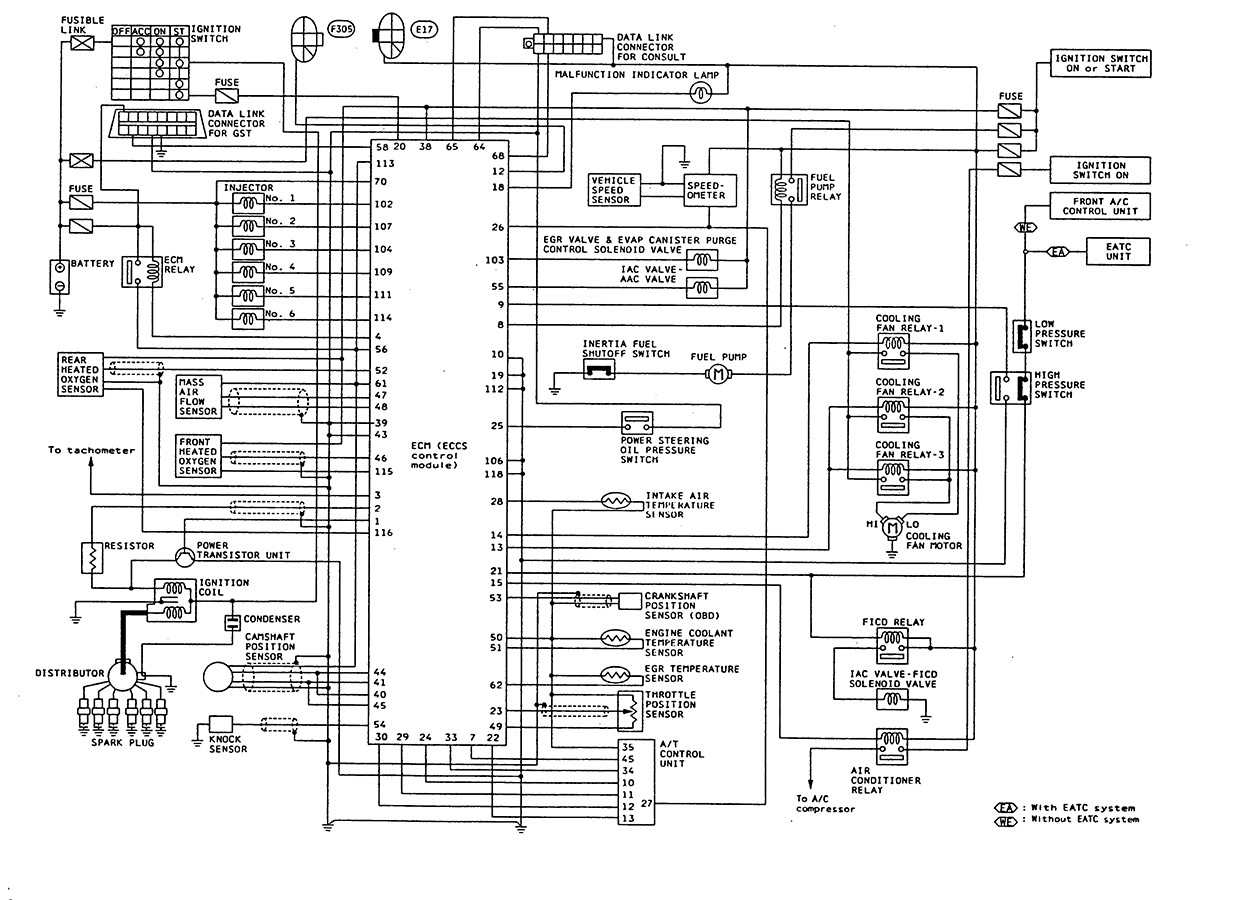 Diagram Nissan B13 Fuse Box Diagram Full Version Hd
