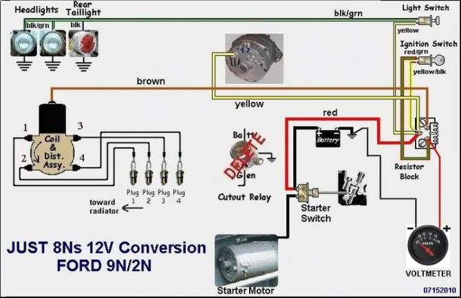 wiring diagram for ford 8n 12 volt  vr6 fuse box diagram