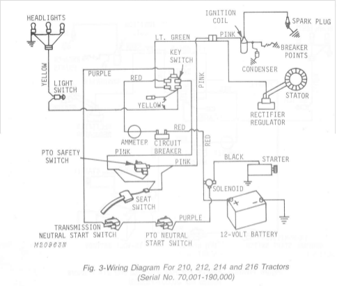 john deere 216 wiring diagram 10 hp electric motor wiring