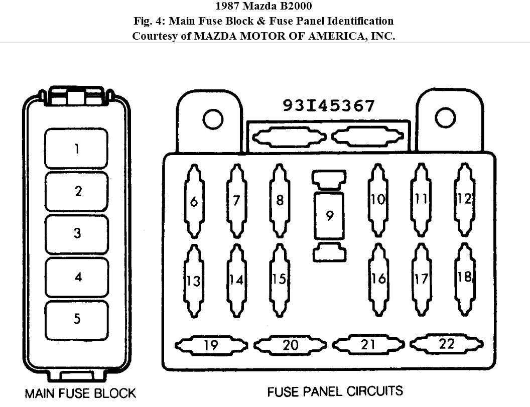 Mazda B Wiring Diagram