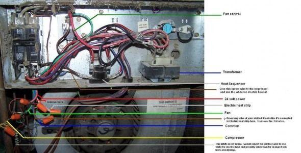 goodman air handler to heat pump wiring diagram  2006