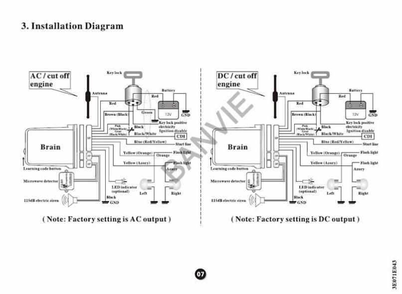 Wiring Diagram Of Motorcycle Alarm Free