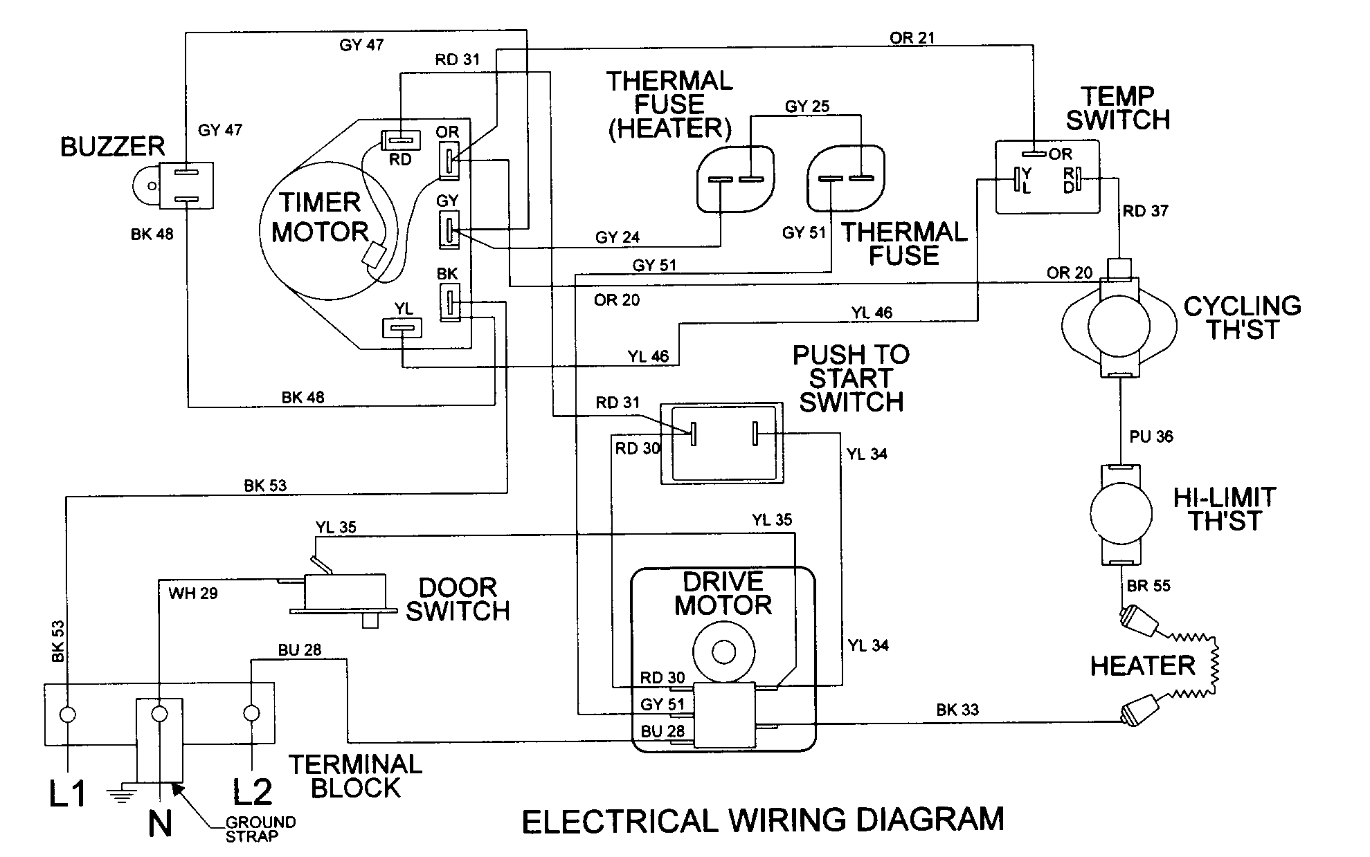 Maytag Atlantis Electric Dryer Wiring Diagram