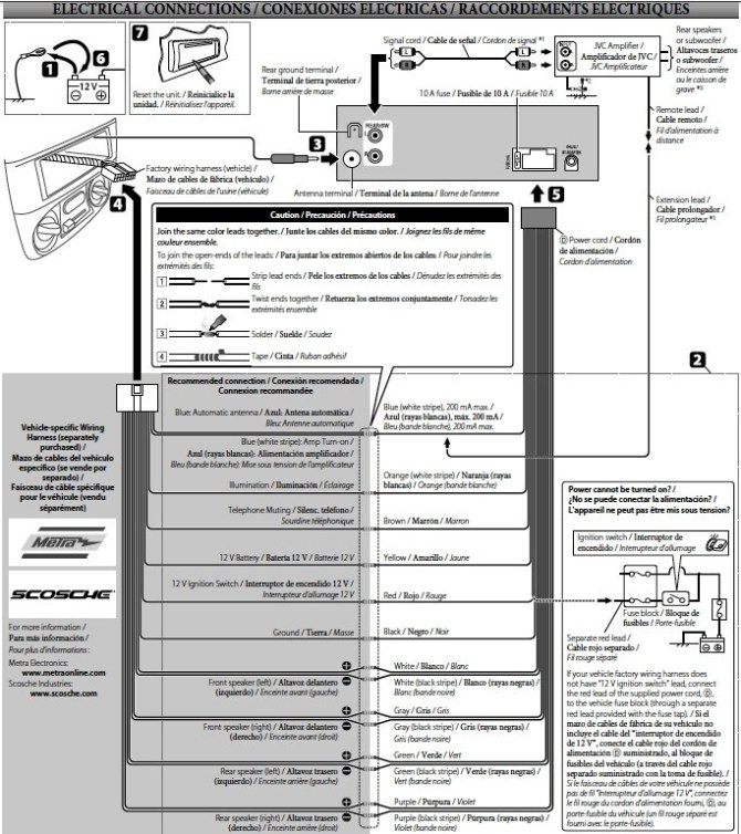 jvc kw xr610 wiring diagram  06 chevy colorado wiring