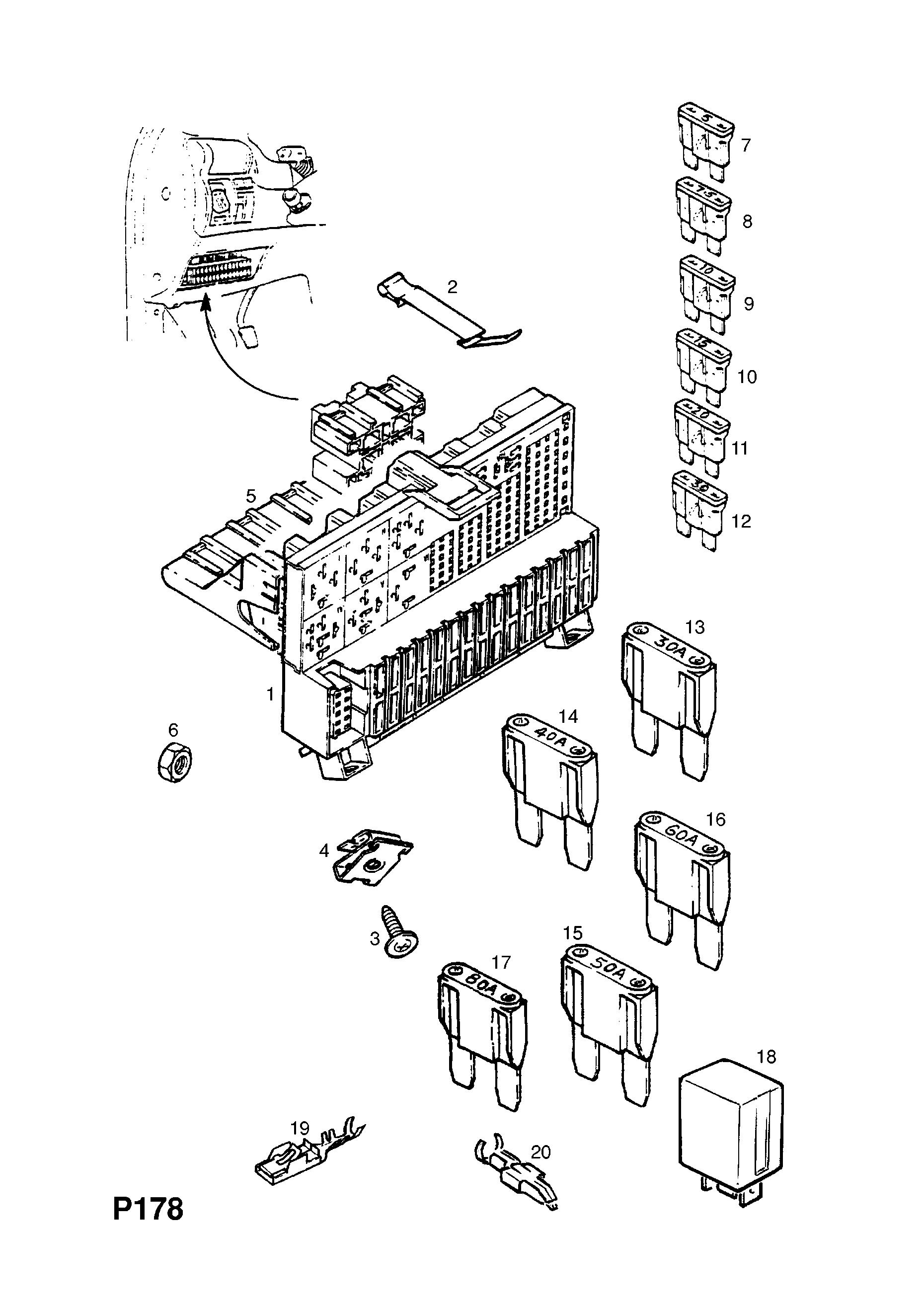 Opel Astra F Wiring Diagram