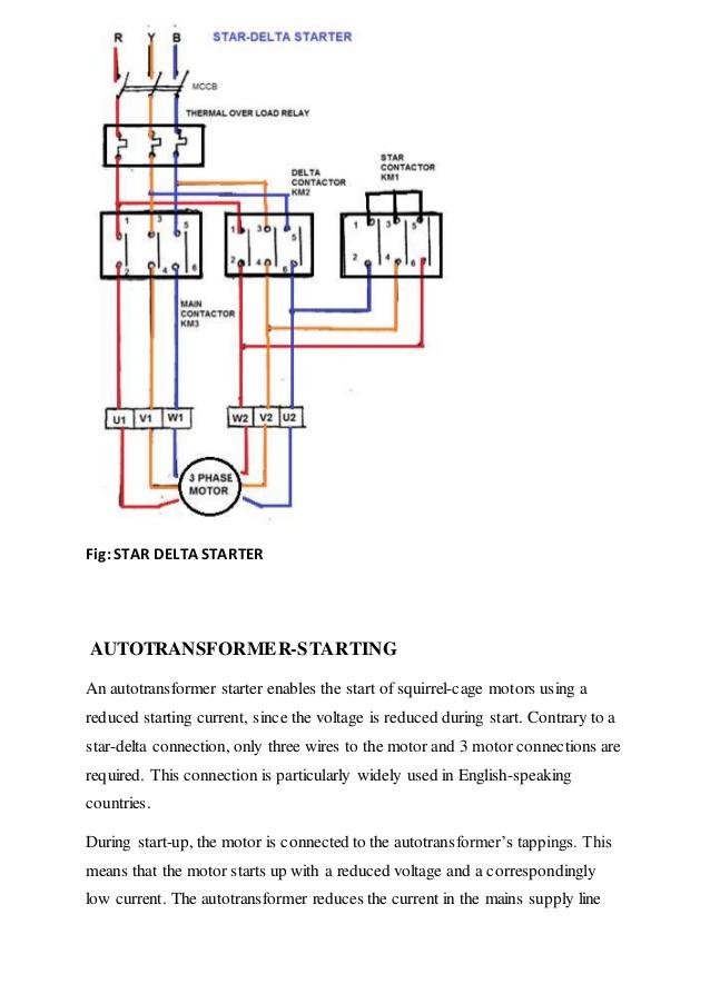 Star Delta Starter Of Three Phase Induction Motor