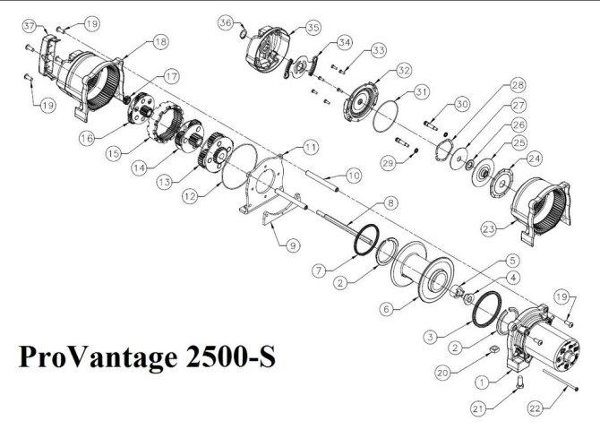 nx1419 warn winch schematic free diagram