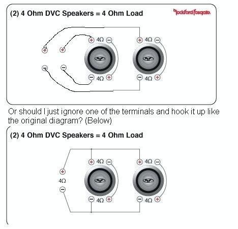 wiring diagram 1 subwoofer 4 ohm dvc  semi 7 pin trailer