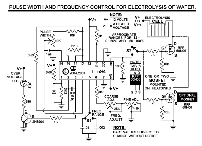 yk4172 variable frequency pwm circuit free diagram