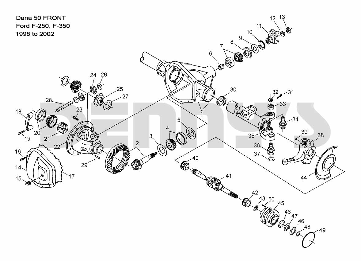 Db Dana 44 Front Axle Diagram Schematic Wiring