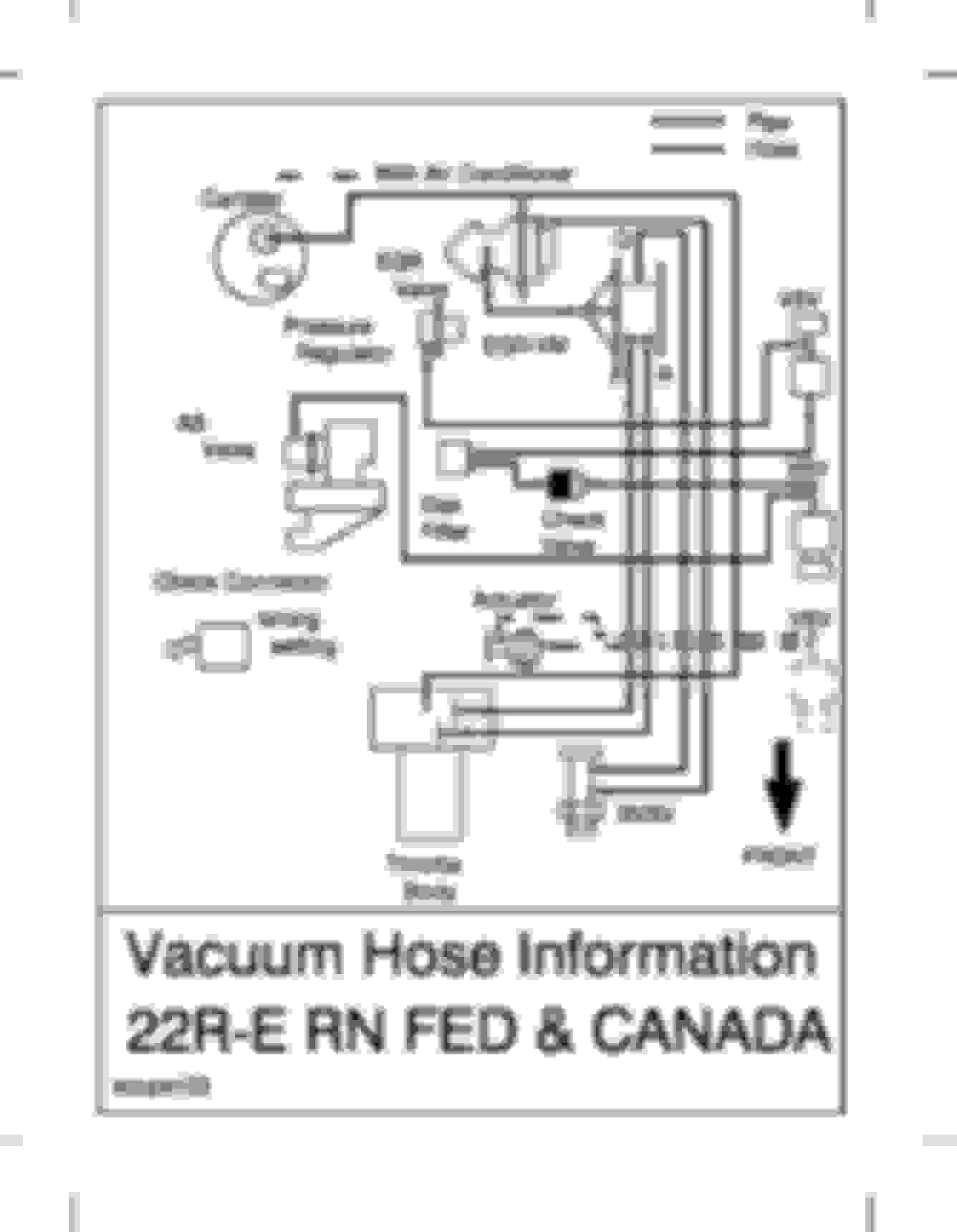 Xh 22re Vacuum Diagram Free Diagram