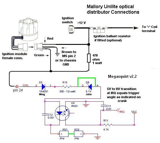 mw9640 mallory unilite ignition wiring diagram in addition