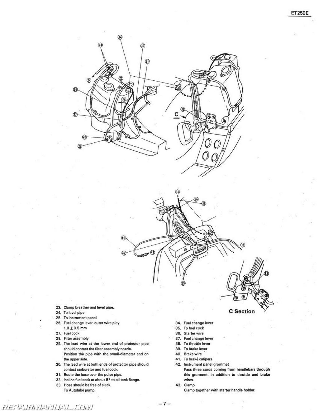 Yamaha Enticer 340 Wiring Diagram