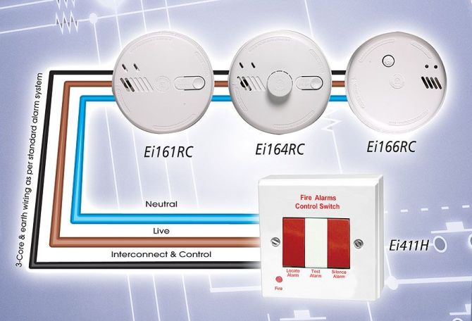 ☑ 3 way switch wiring smoke detector interconnect wiring