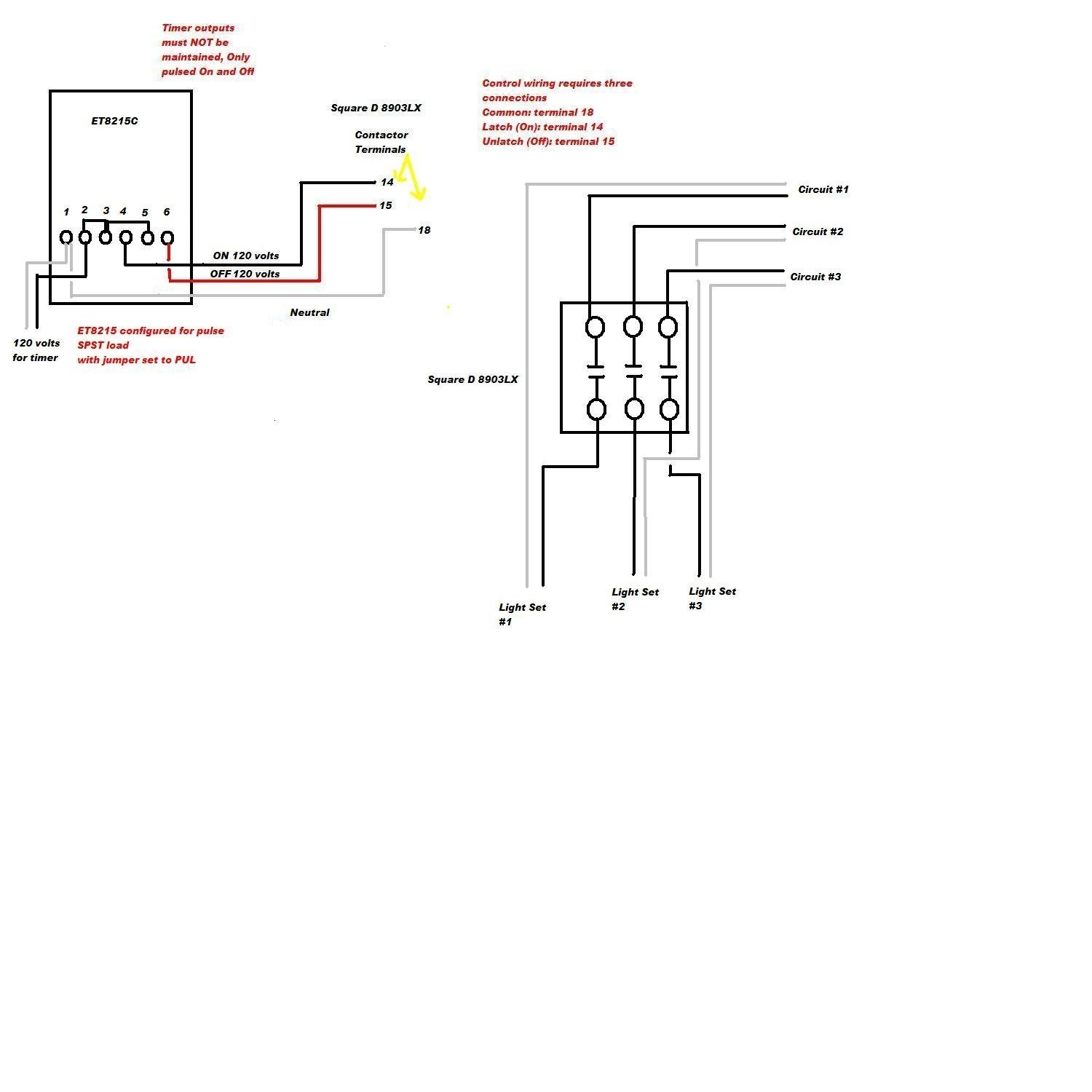 Square D 2 Pole Lighting Contactor