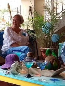 Margie Barclay at home in Oaxaca, Mexico