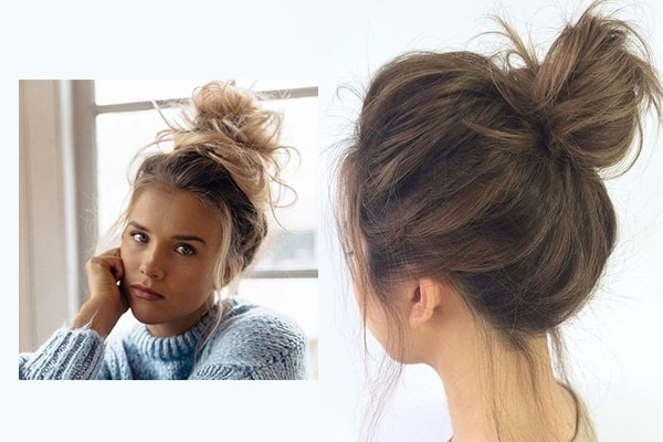 Messy Bun Business Haircut For Girls
