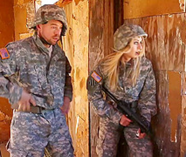 Blonde Babe In Military Uniform Gets Fucked Hardcore By Her Colleague