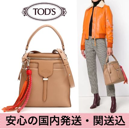 TOD'S ハンドバッグ 国内発送・関送込【TOD'S】Small Thea Bucket Bag
