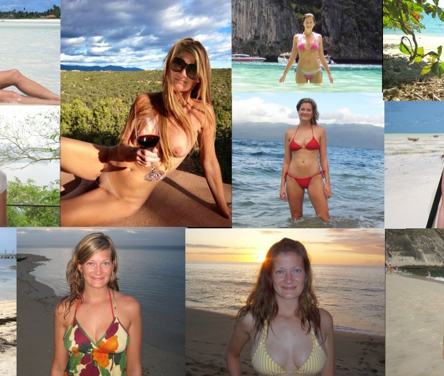 On Vacation Collage Porn Photo
