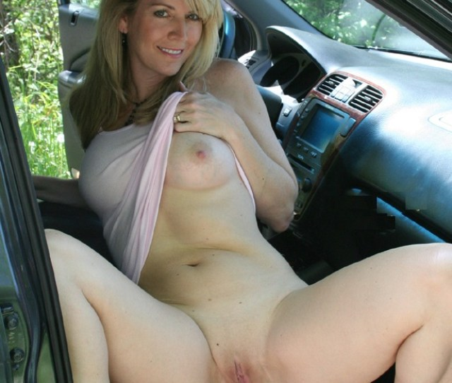 Milf In The Car Porn Photo