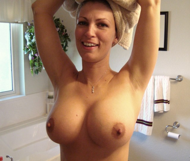 Busty Mom In The Bathroom Porn Photo