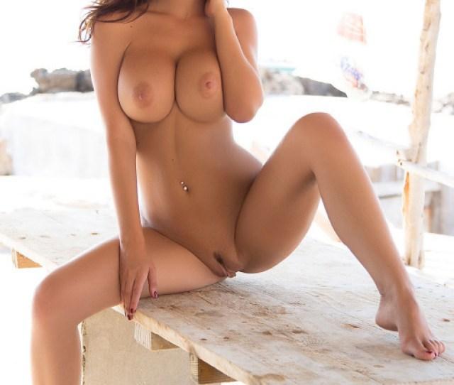 Gorgeous Busty Brunette Porn Photo