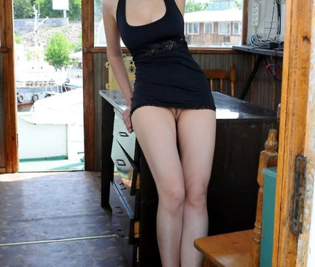 In A Sexy Black Dress Porn Photo