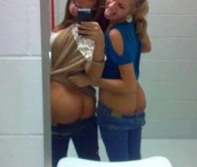Amateur Photo Mooning In The Girls Room