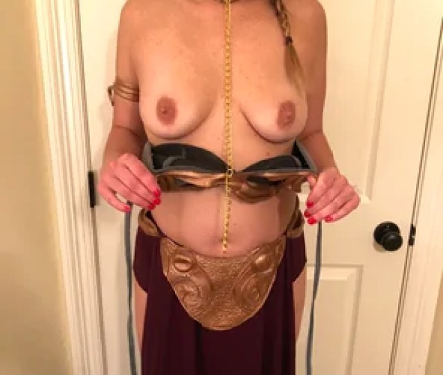 Amateur Photo Trying On My Slave Leia Costume Should I Wear It