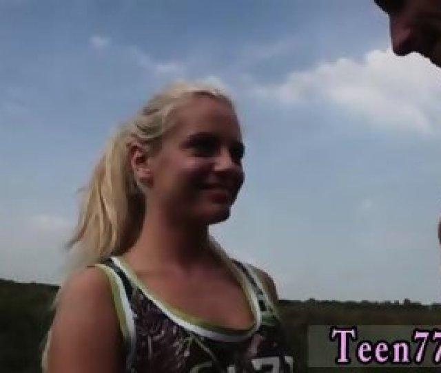 Teen Sleep Assault Vanda Picked Up And Drilled Outdoors