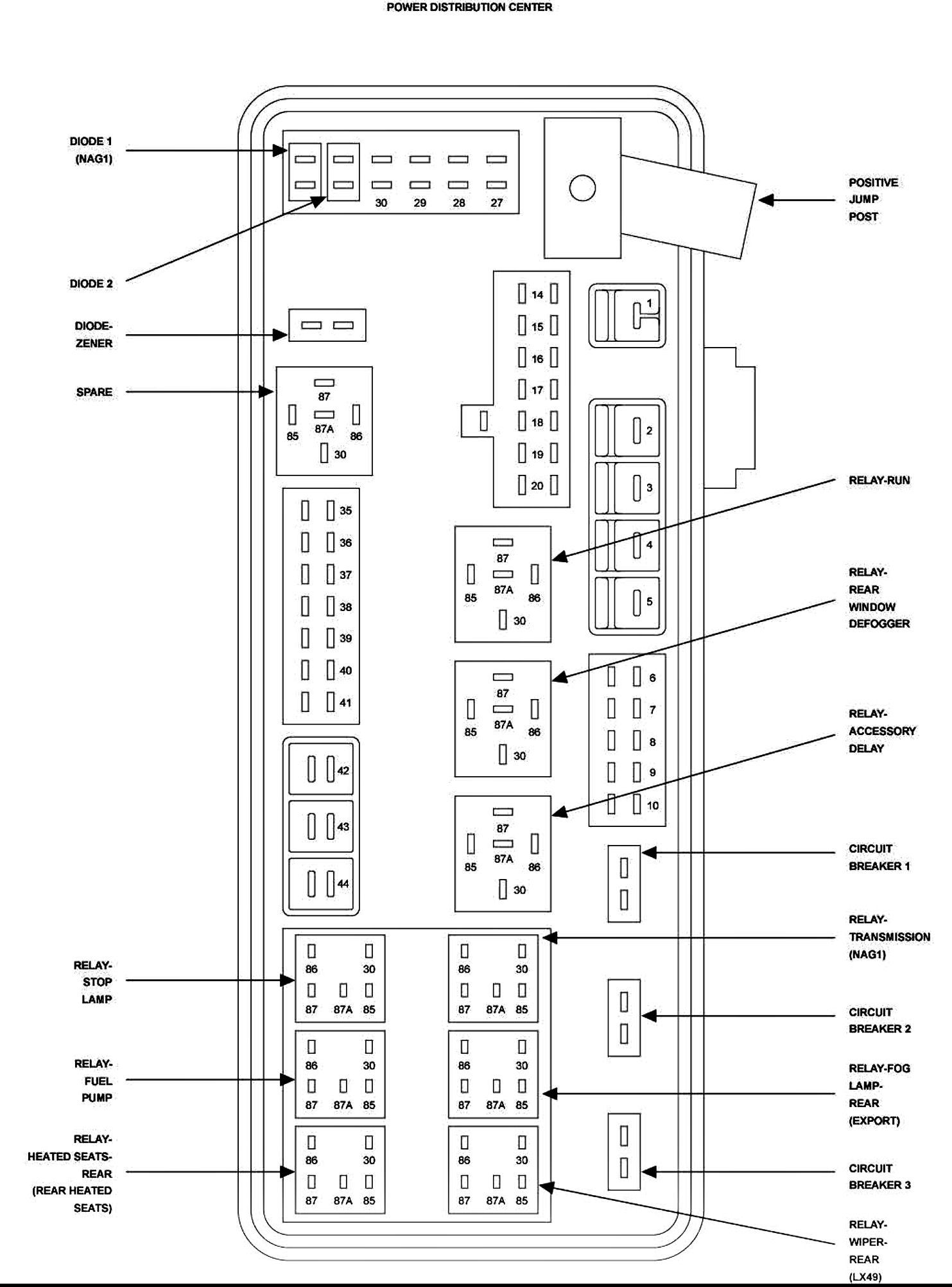 Mercury Cougar Fuse Box Diagram