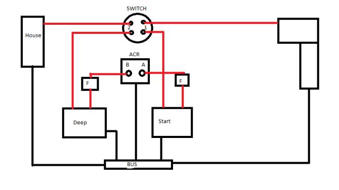marine dual battery wiring diagram 12 lead motor wiring