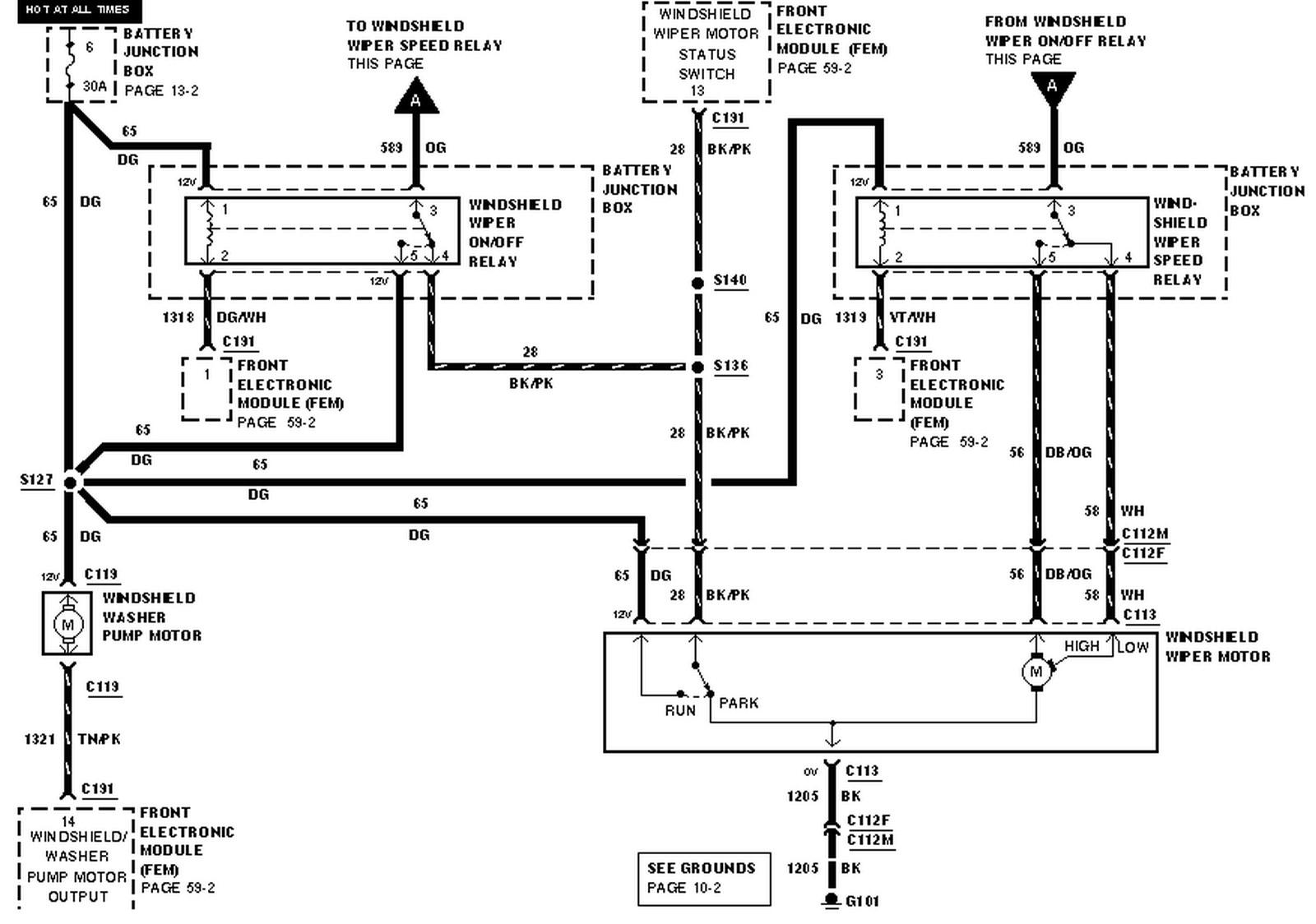 Ford Taurus Fuel Pump Wiring Diagram