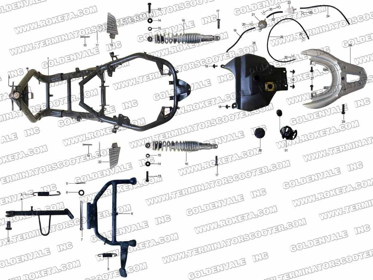 Roketa Bali 150 Wiring Diagram