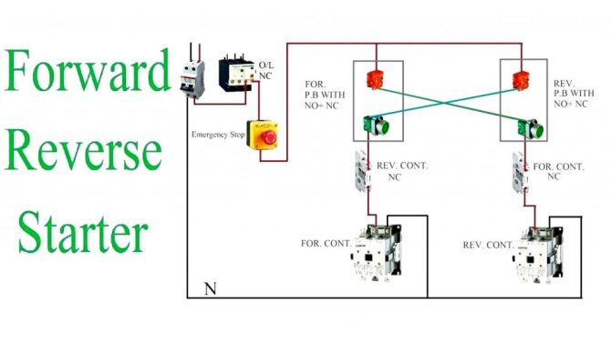 single phase forward reverse diagram advance sign ballast