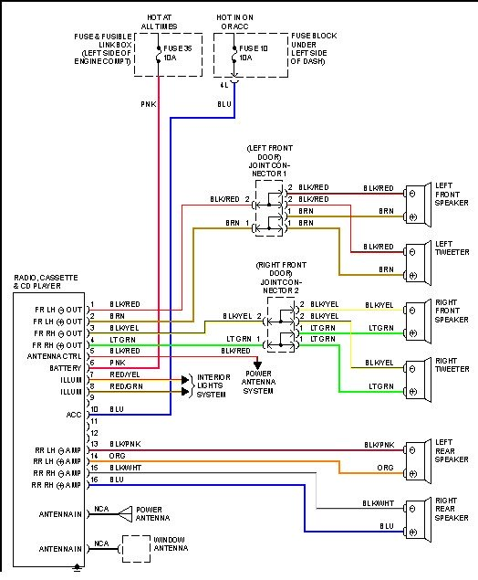 1999 nissan maxima radio wiring diagram  1997 ford mustang