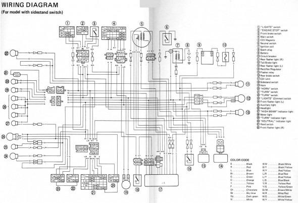 1994 yamaha warrior 350 wiring diagram  more wiring