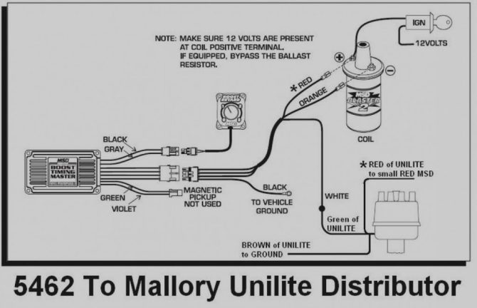 mallory ignition tach wiring diagram  description wiring
