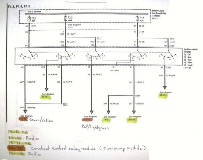 1999 mustang ignition wiring diagram  ford excursion wiring