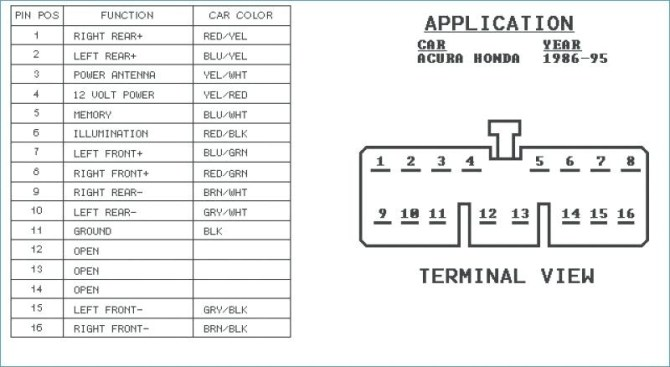 honda radio wiring diagram  01 dodge ram speaker wire