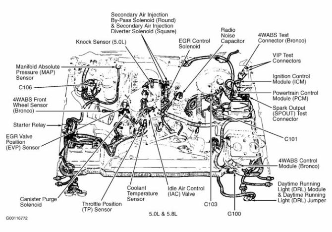 fuel system diagram 1990 ford f150 5 0l  center wiring