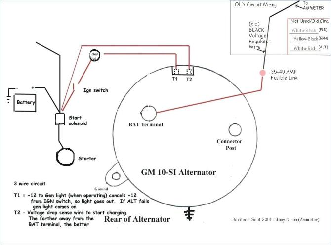 wiring gm alternator diagram  wiring diagram for compressor