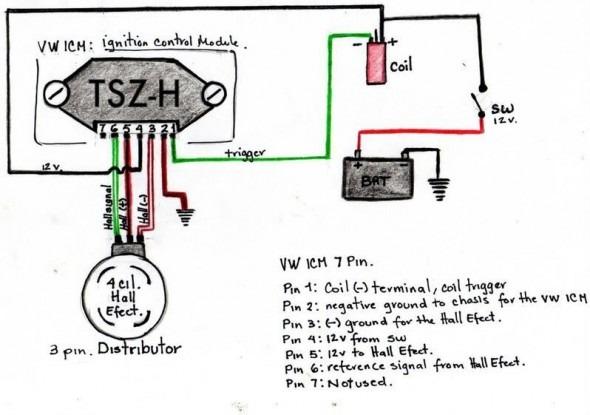 vw electronic distributor wiring diagram  center wiring