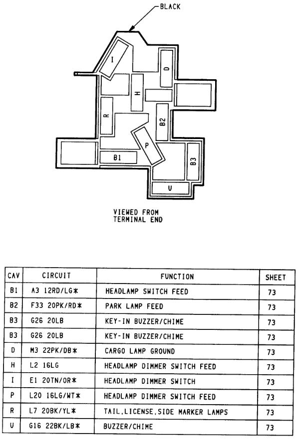 1994 dodge 2500 headlight switch wiring  description wiring