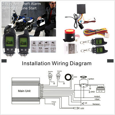 motorcycle remote start wiring diagram  fuse box for bass